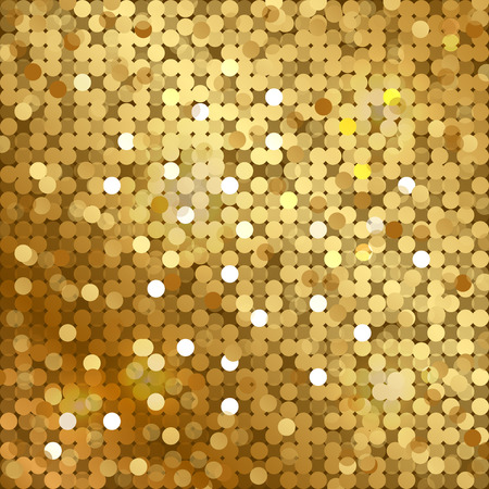 Vector gold background with sequins Illustration