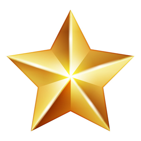 Vector gold star Illustration