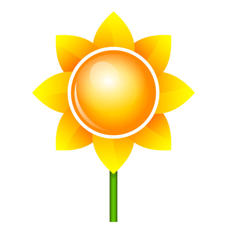 Vector sunflower icon Vector