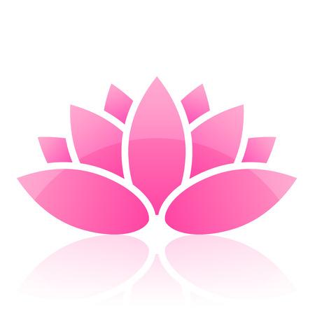 flores fucsia: icono de Lotus
