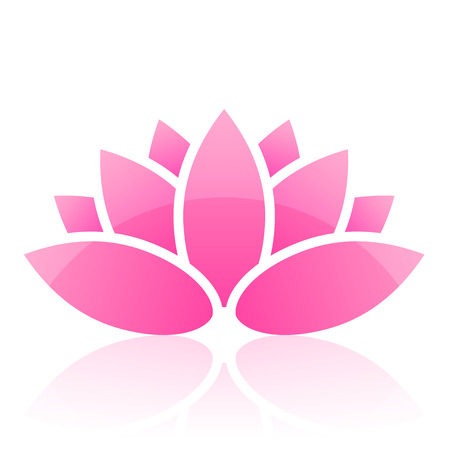 healing plant: lotus icon Illustration