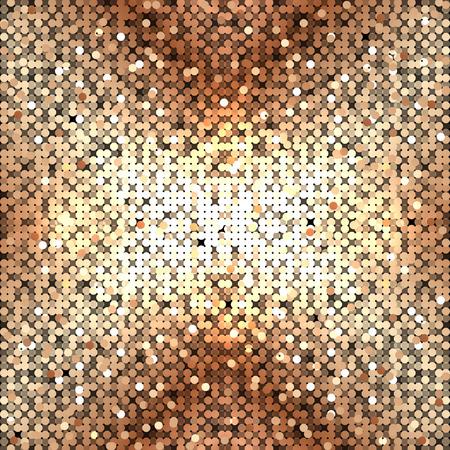 abstracte gouden pailletten Stock Illustratie