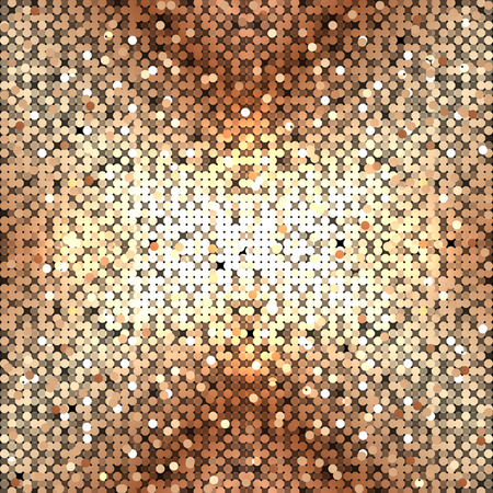 abstract gold sequins Illustration