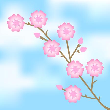 Vector illustratie van roze bloemen Vector Illustratie