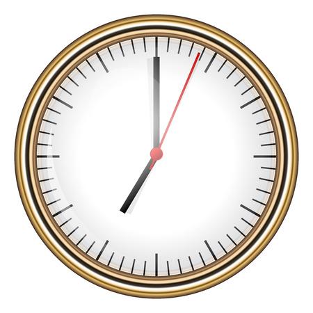 arousing: Vector illustration of clock