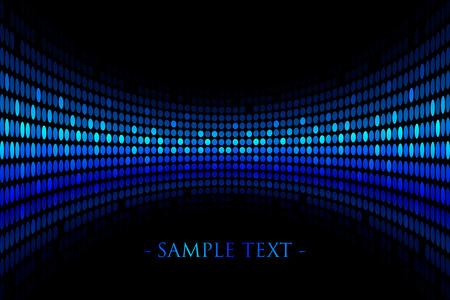 glisten: Вектор черный фон с синими огнями с пространством для вашего текста