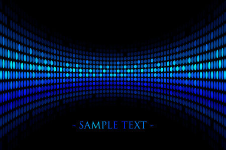 glisten: Vector black background with blue lights with space for your text Illustration
