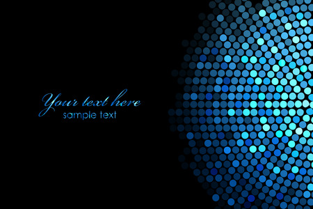 Vector background with blue disco lights