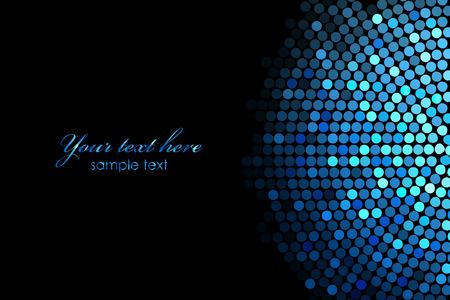 Vector tle z niebieskimi światłami disco