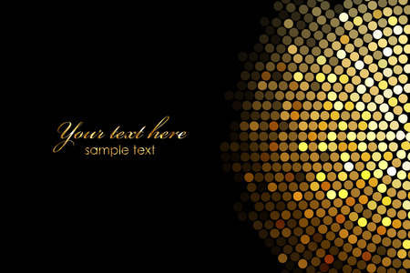 Vector background with gold disco lights