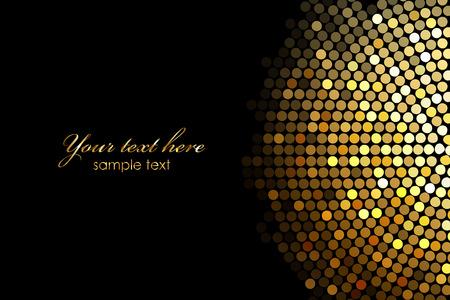 Vector achtergrond met gouden disco verlichting Stock Illustratie