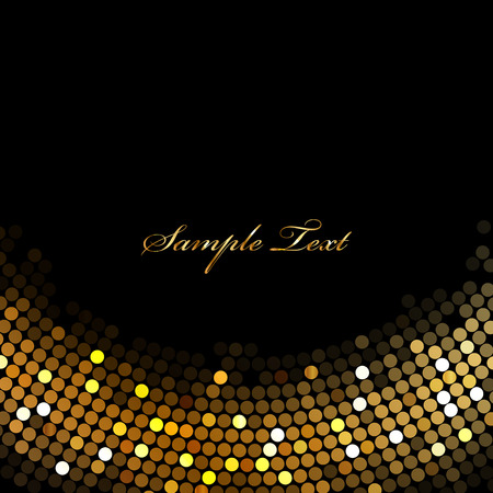 gold design: Vector black background with gold lights
