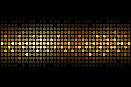 金: 黒の背景のライト ベクトル ゴールド  イラスト・ベクター素材