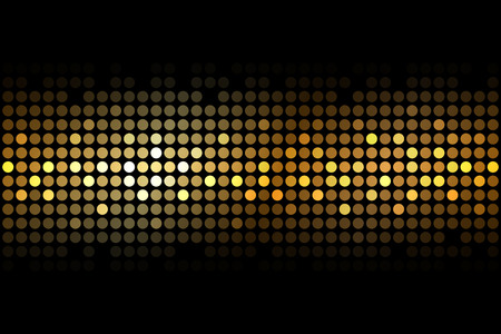 nightclub: Vector gold lights on black background