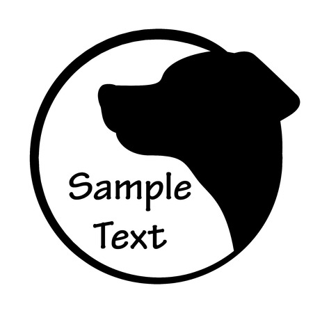 labrador retriever: Vector illustration of dog icon