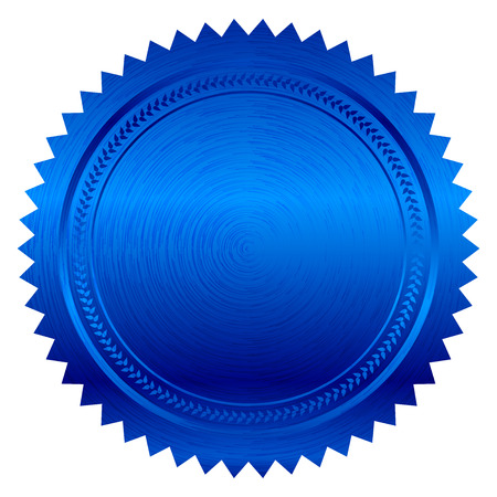 wax stamp: Vector illustration of blue seal