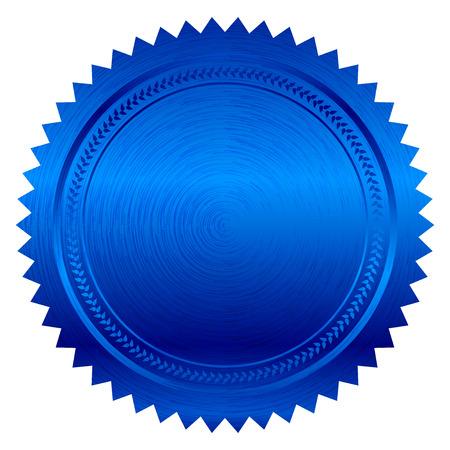 signatory: Vector illustration of blue seal