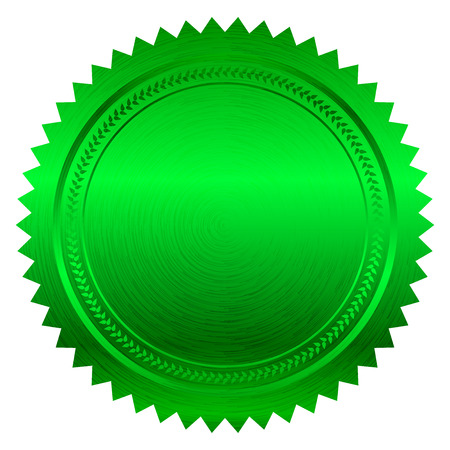 Vector illustration of green seal Vector