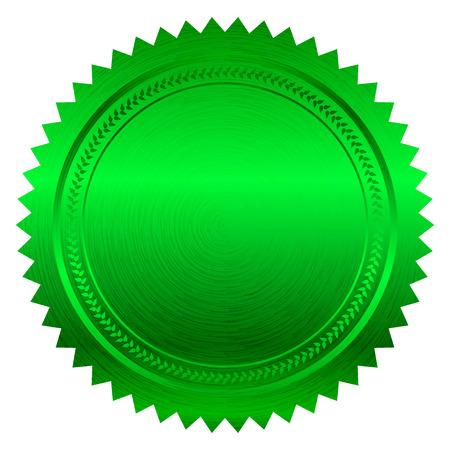 signatory: Vector illustration of green seal