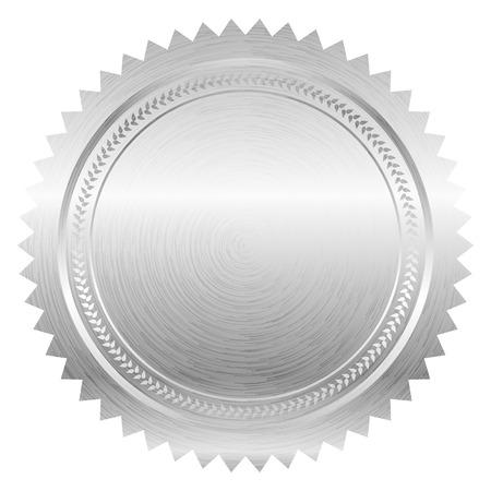 Vector illustratie van zilver seal