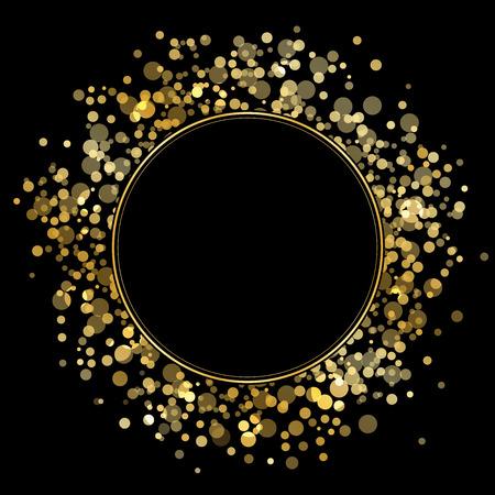 Vector frame met gouden glitters