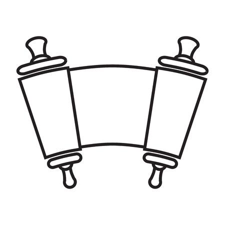 Vector silhouet van de Rol van de Wet