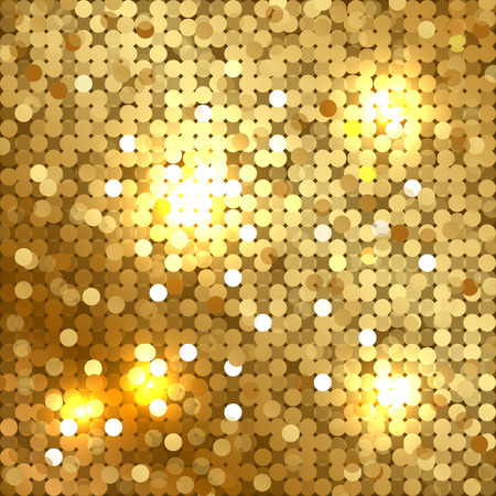 Vector shiny background with gold sequins
