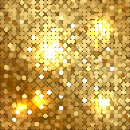 textura oro: Vector fondo brillante con lentejuelas de oro