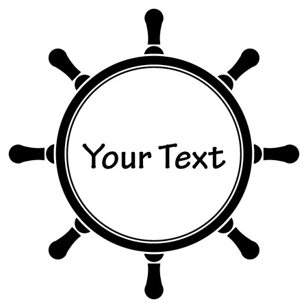 Vector illustration of steering wheel frame with space for text