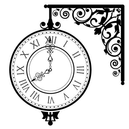 Vector illustration of vintage clock
