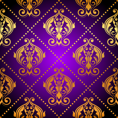 tapet: Vector luxury purple background with gold ornament