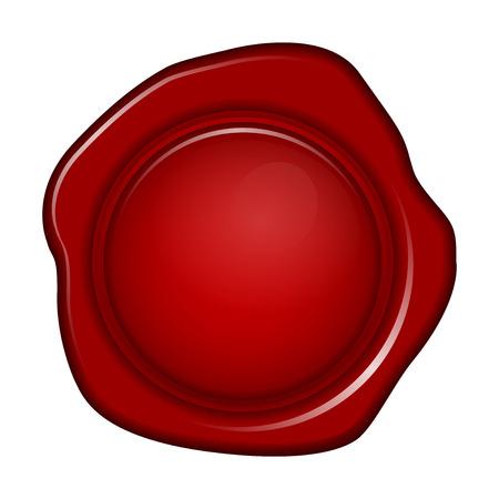 signatory: Vector illustration of wax seal