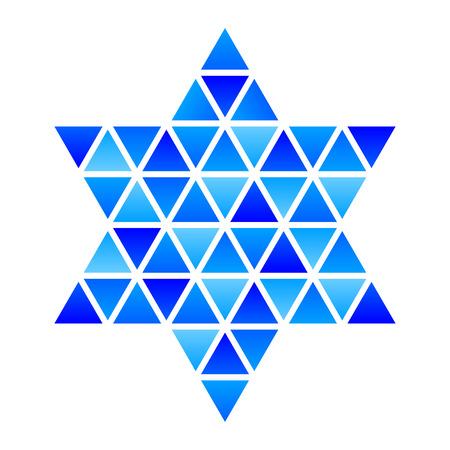 jewry: Vector Star of David Star mosaic icon Illustration