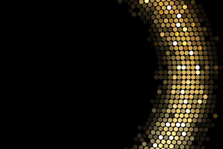 glisten: Вектор кадр фон с золотыми огнями