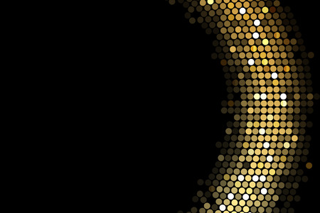 nightclub: Vector frame background with gold lights