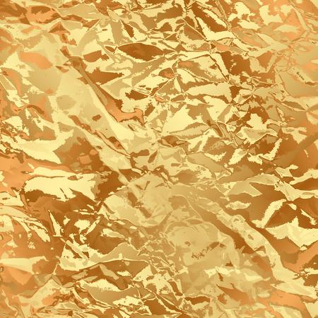 foil: Vector gold foil background Illustration
