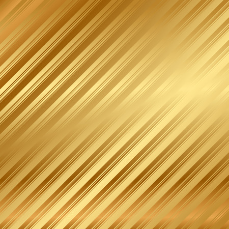 Vector gold background with stripes Vector