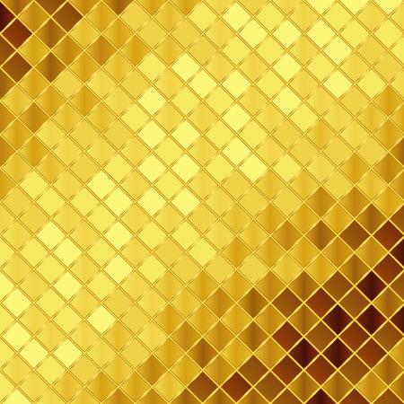 Vector golden mosaic background Illustration