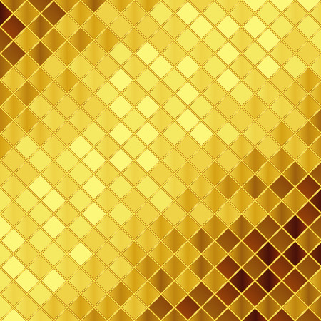 Vector golden mosaic background Stock Illustratie