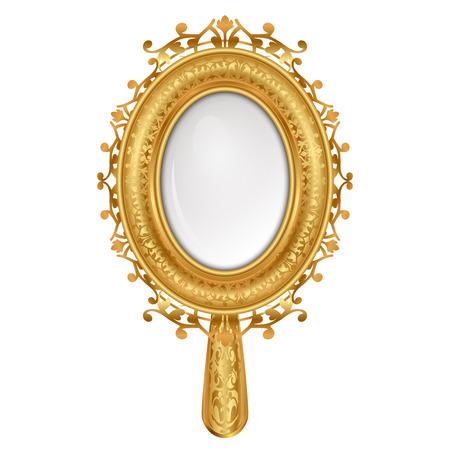 ovalo: Ilustración del vector del espejo de la vendimia
