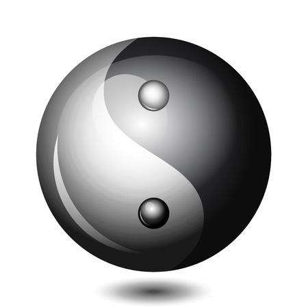 metaphysic: Vector Yin Yang shiny symbol