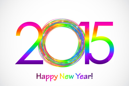 Vector colorful 2015 Happy New Year background Vector