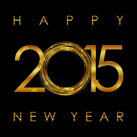 Vector - 2015 Happy New Year glowing background