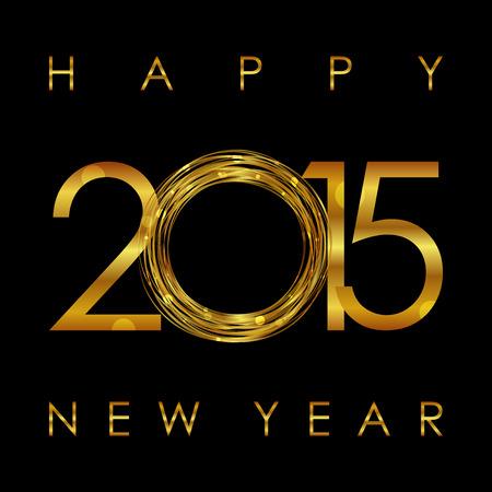 sylwester: Wektor - 2015 Szczęśliwego Nowego Roku świecące tło Ilustracja