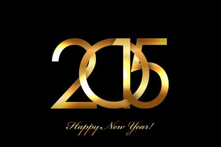 Vector - 2015 Frohes Neues Jahr Hintergrund Standard-Bild - 33505403