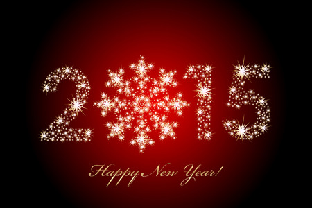 Vector 2015 Happy New Year magic background Vector