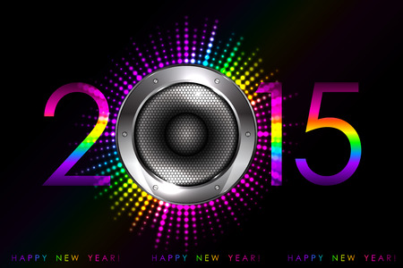 Party - vector 2015 New Year background