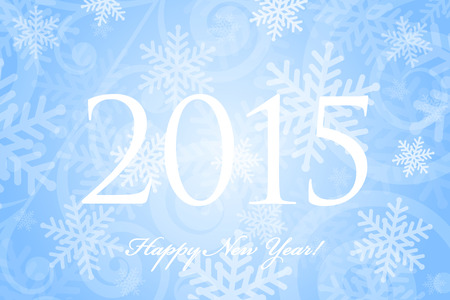 froze: Vector 2015 Happy New Year background with snowflakes