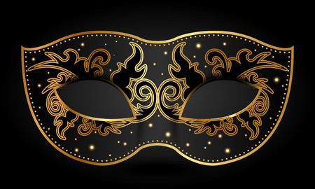 black mask: Vector illustration of ornate mask
