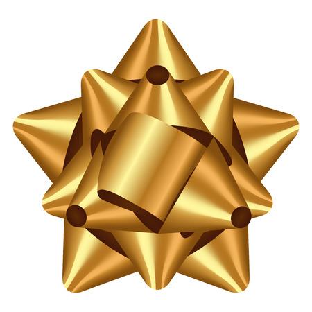 Vector illustration of gold bow Vettoriali